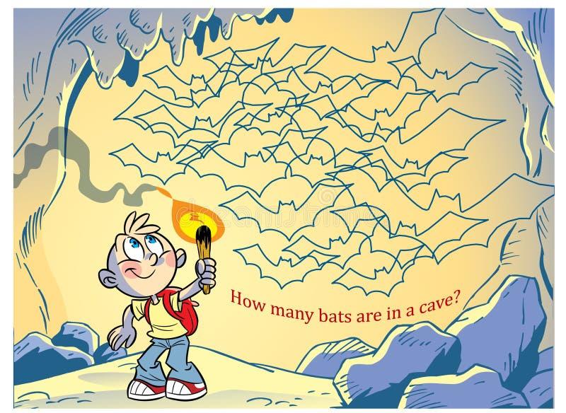 Déconcertez combien de chauves-souris dans la caverne illustration libre de droits