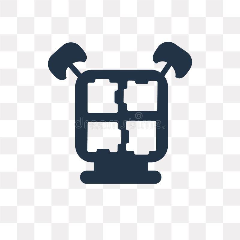 Déconcertez l'icône de vecteur d'isolement sur le fond transparent, le puzzle t illustration libre de droits