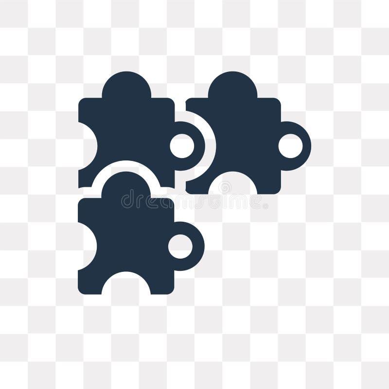 Déconcertez l'icône de vecteur d'isolement sur le fond transparent, le puzzle t illustration de vecteur