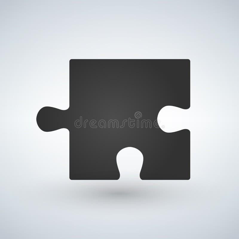 Déconcertez l'icône plate de morceau pour des apps et des sites Web illustration stock