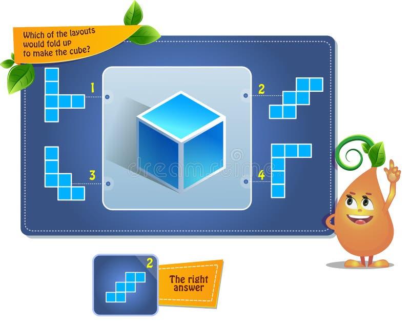 Déconcertez le jeu pour faire le cube illustration libre de droits
