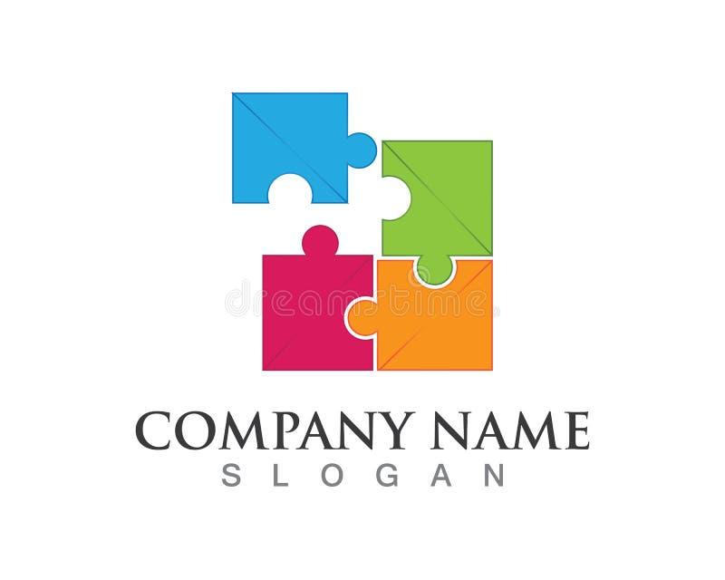 Déconcertez le logo de soin de personnes de la Communauté et le calibre de symboles illustration de vecteur
