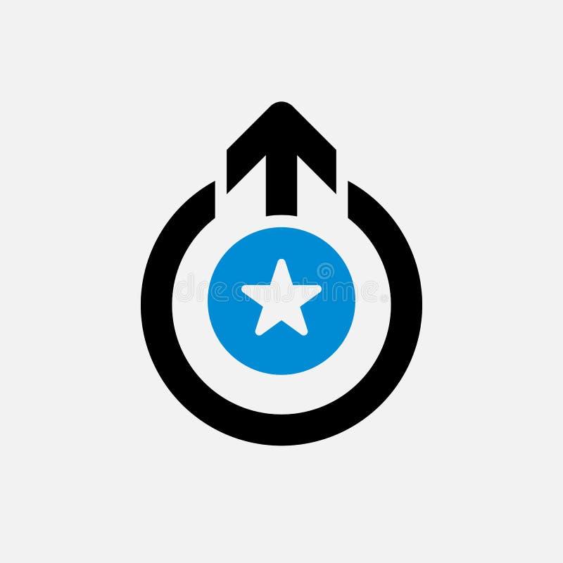 Déconnectez-vous l'icône, icône de signes avec le signe d'étoile Déconnectez-vous l'icône et mieux, favori, évaluant le symbole illustration libre de droits