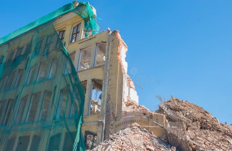 Déconstruction de bâtiment photo stock