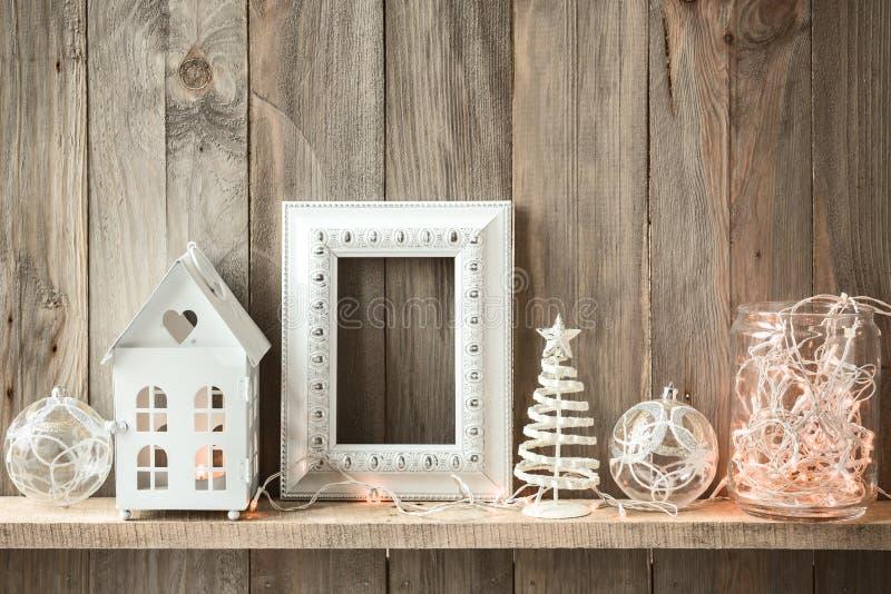 Décor à la maison de Noël photographie stock libre de droits