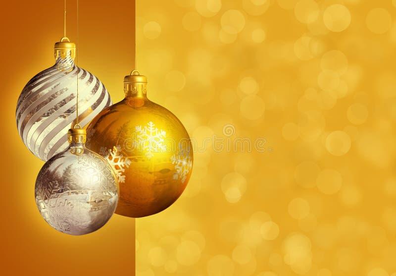 Décor élégant dénommé moderne de Noël. images libres de droits