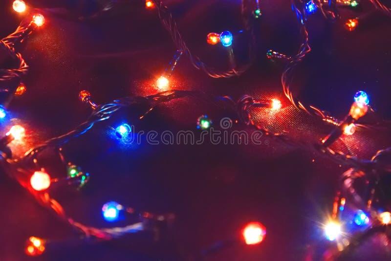 Décor d'ampoule Guirlande avec photographie stock