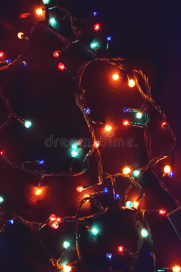 Décor d'ampoule Guirlande avec photo libre de droits