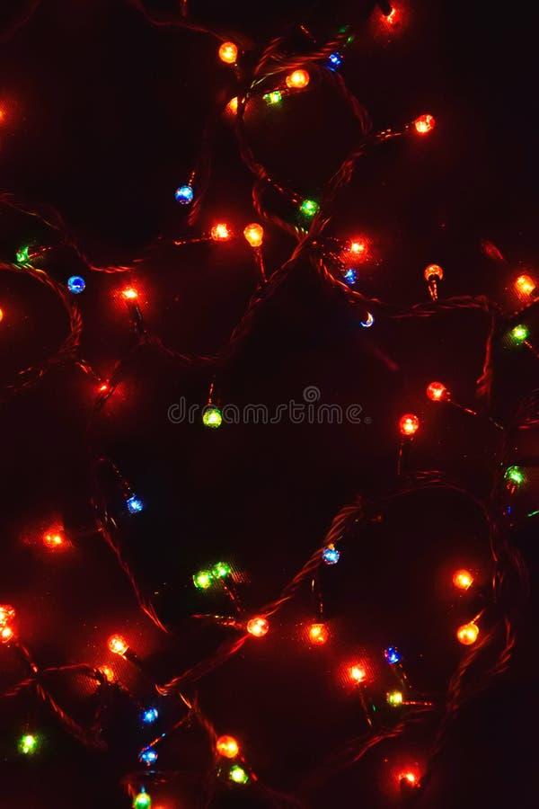 Décor d'ampoule Guirlande avec photos libres de droits