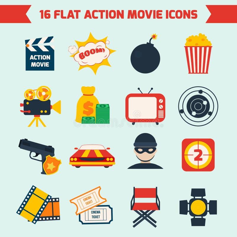 Décor de film d'action illustration libre de droits