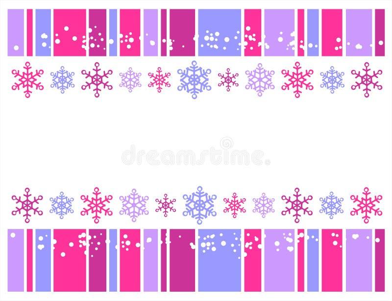 Décor de l'hiver illustration libre de droits