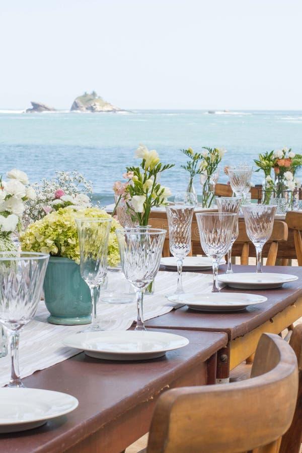 décor de mariage de plage photo libre de droits