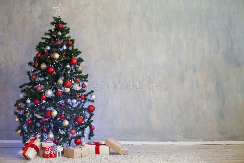 Décor de Noël pour Noël avec des cadeaux images stock