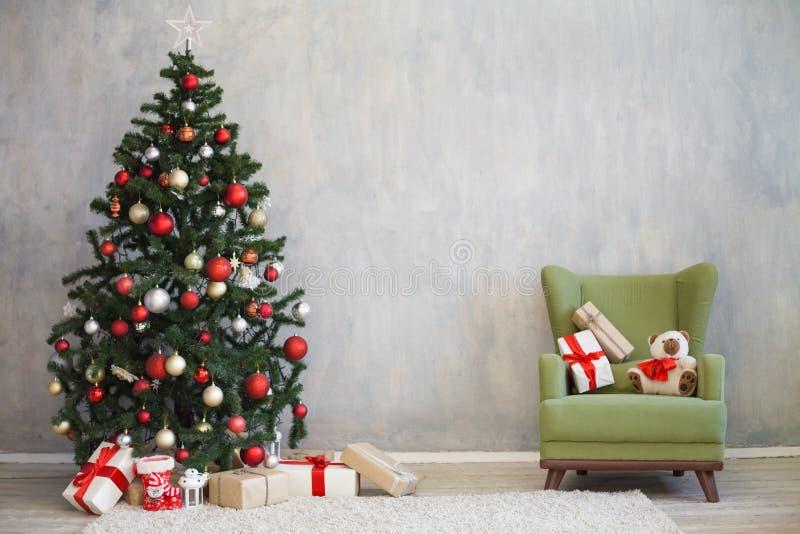 Décor de Noël pour Noël avec des cadeaux image libre de droits