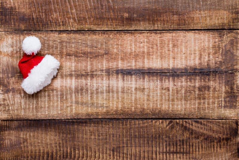Décor de Noël sur le fond en bois de vieux vintage image stock