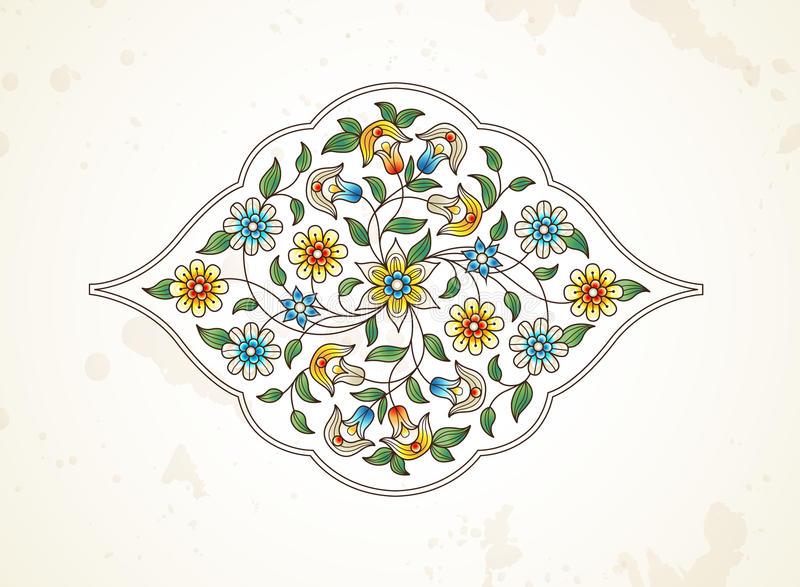 Décor de vecteur, arabesque dans le style oriental illustration de vecteur