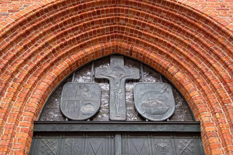 Décor du ` s Archcathedral, Varsovie, Pologne de St John photographie stock