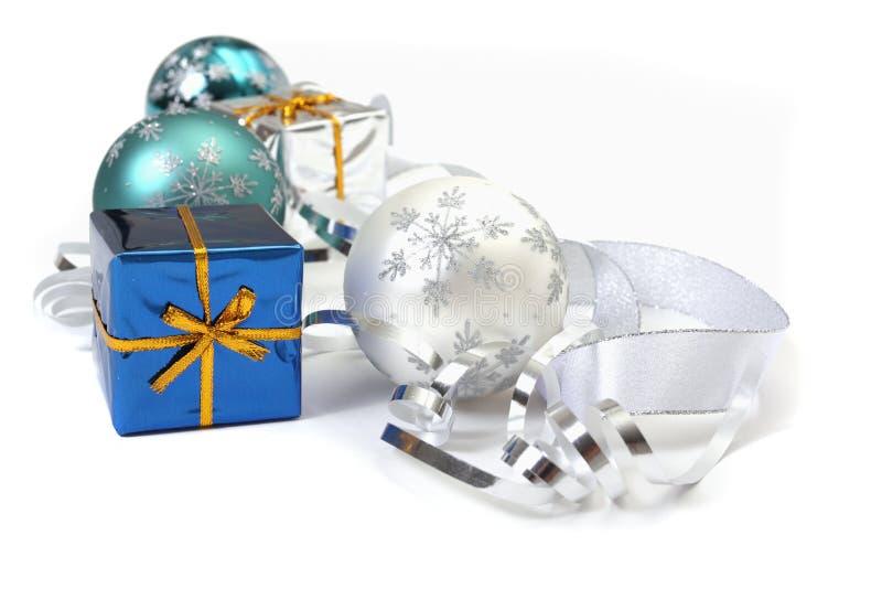 Décor et cadeaux de Noël photo libre de droits