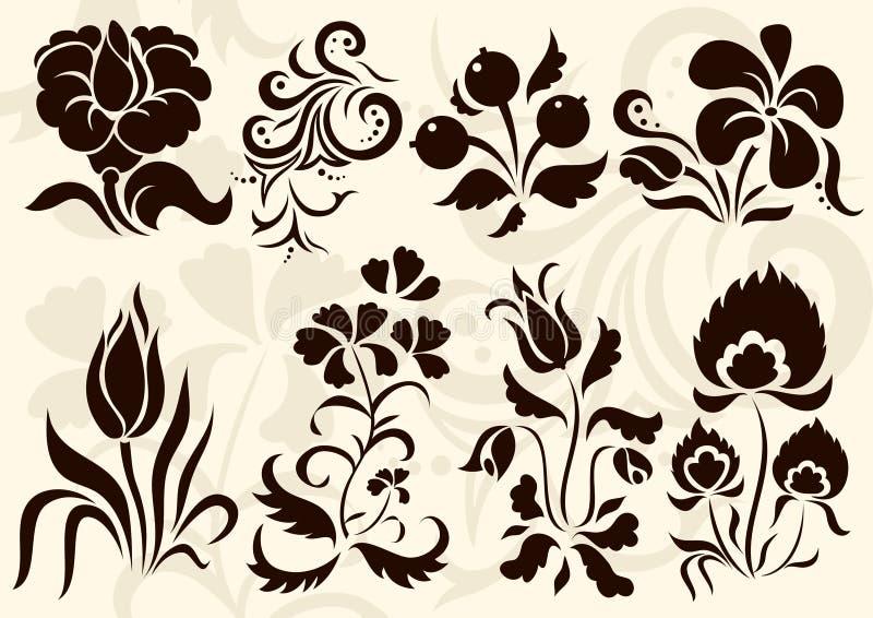 Décor floral de vecteur illustration stock