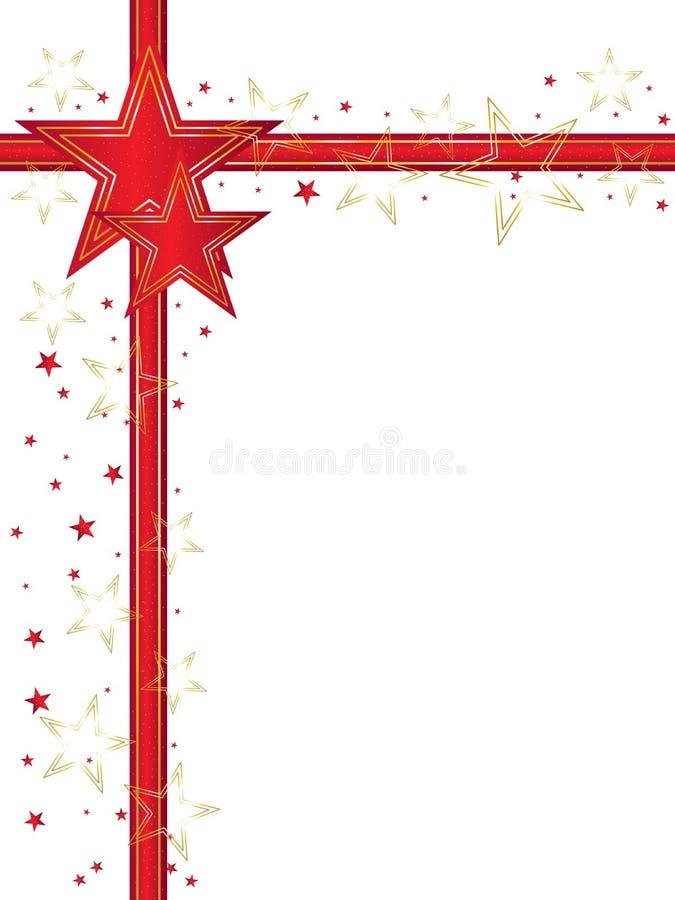 Décor rouge de contexte d'étoile illustration libre de droits