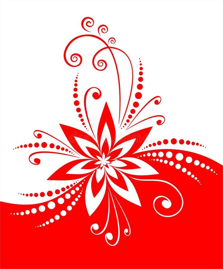 Décor rouge de fleur illustration libre de droits