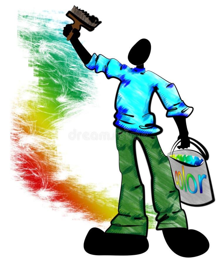 Décorateur de peintre illustration de vecteur