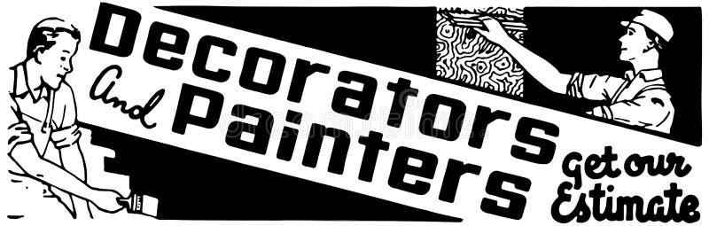 Décorateurs et peintres illustration stock