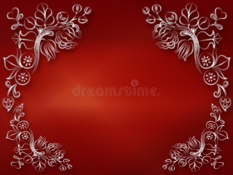 Décoratif rouge brillant illustration de vecteur