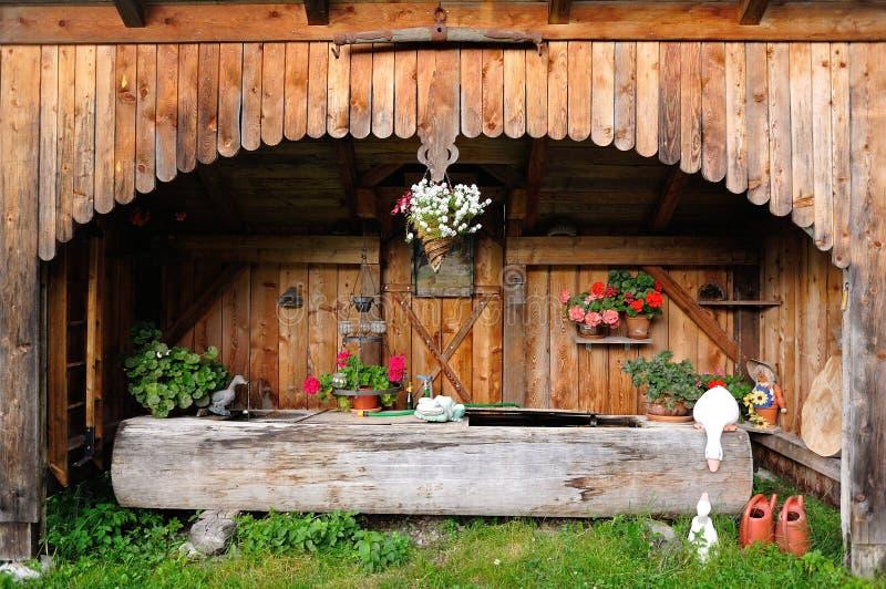 Décoration à la maison alpine photo libre de droits