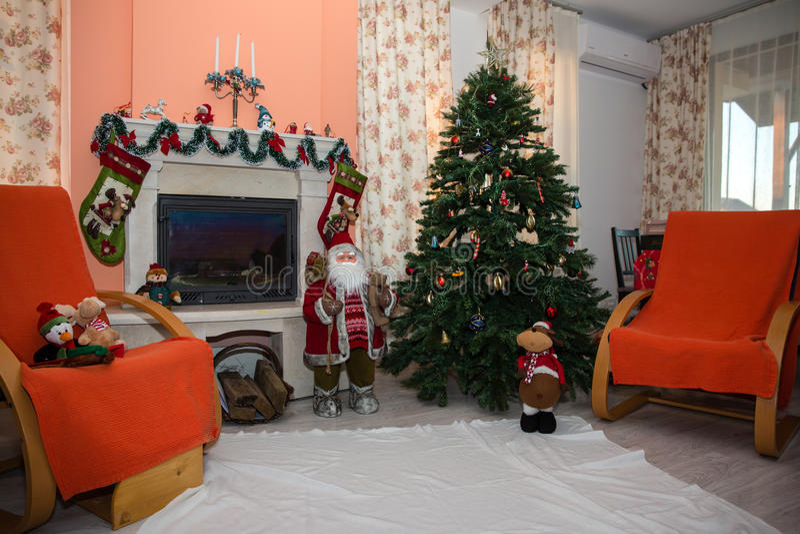 Décoration à la maison de Noël images libres de droits