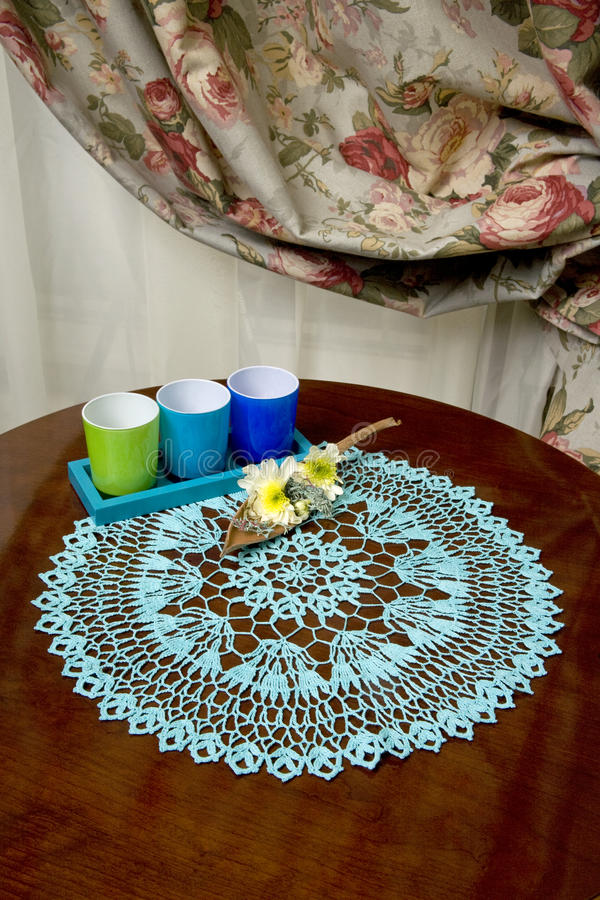 Décoration à la maison de table image stock