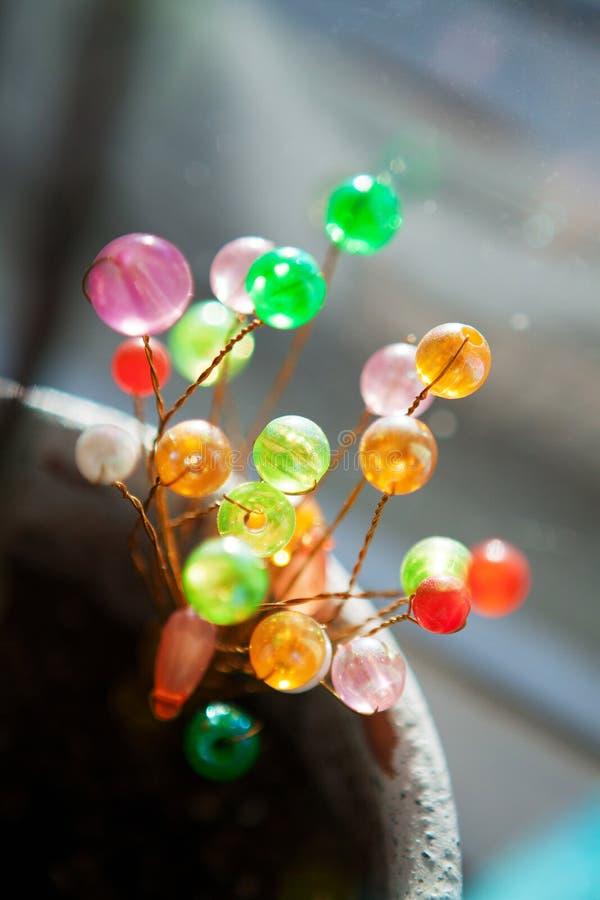 Décoration à la maison fabriquée à la main de DIY des perles images libres de droits