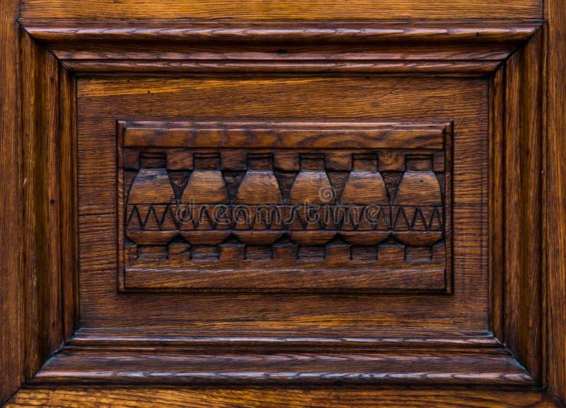 Décoration architectonique en bois images libres de droits