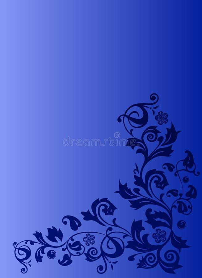 Décoration bleue sur le fond bleu illustration libre de droits