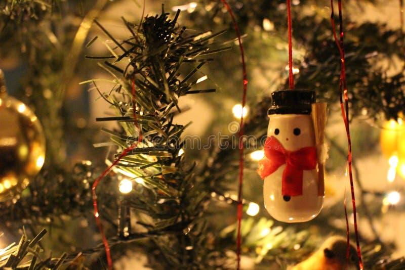 Décoration classique de Noël de bonhomme de neige images libres de droits