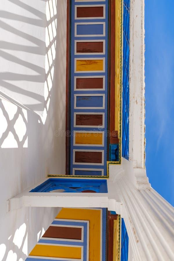 Décoration colorée chez Bahia Palace photo stock