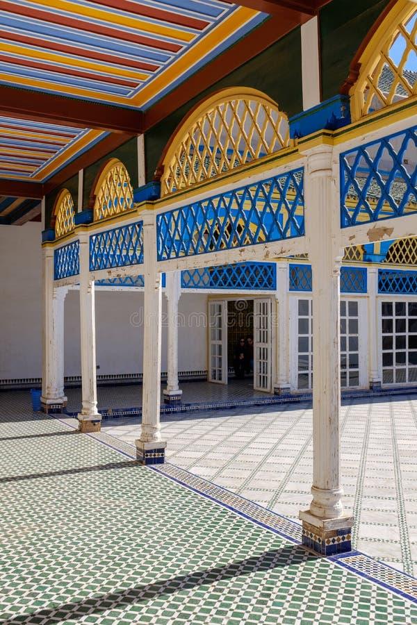 Décoration colorée chez Bahia Palace photographie stock libre de droits