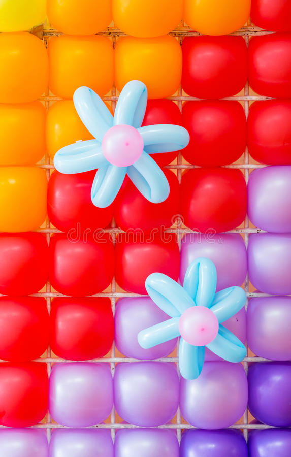 Décoration de ballons photo stock