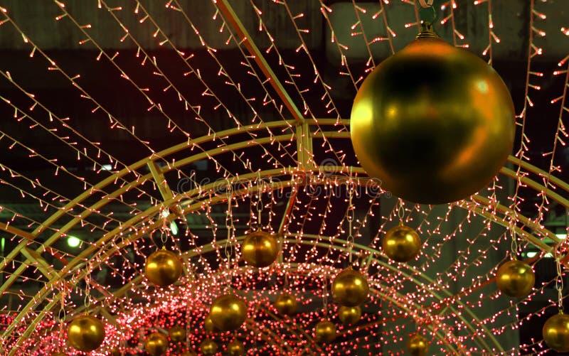 Décoration colorée de Noël des beaucoup lumière de LED photo stock