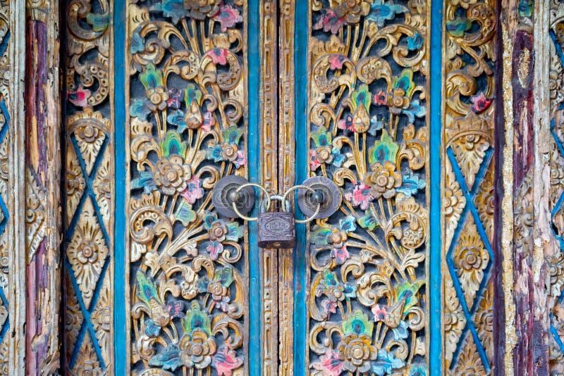 D?coration color?e de porte, Bali photo libre de droits