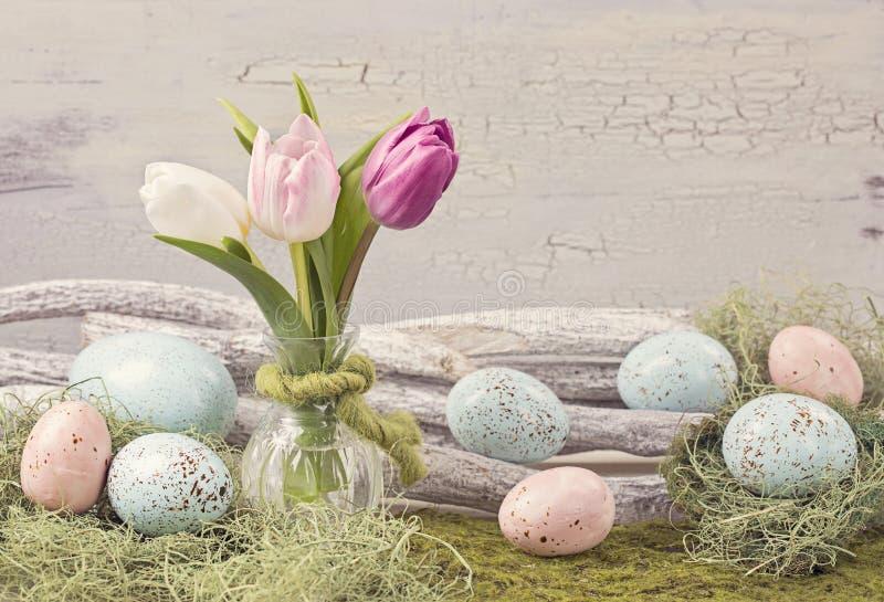 Décoration colorée par pastel de Pâques images stock