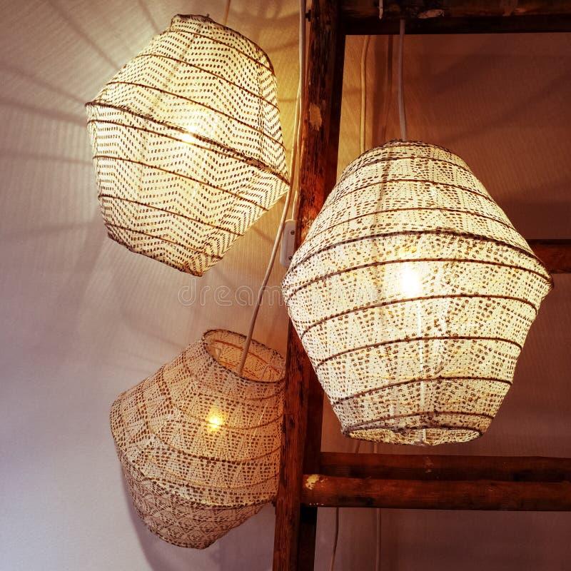 Décoration confortable de lanternes photos libres de droits