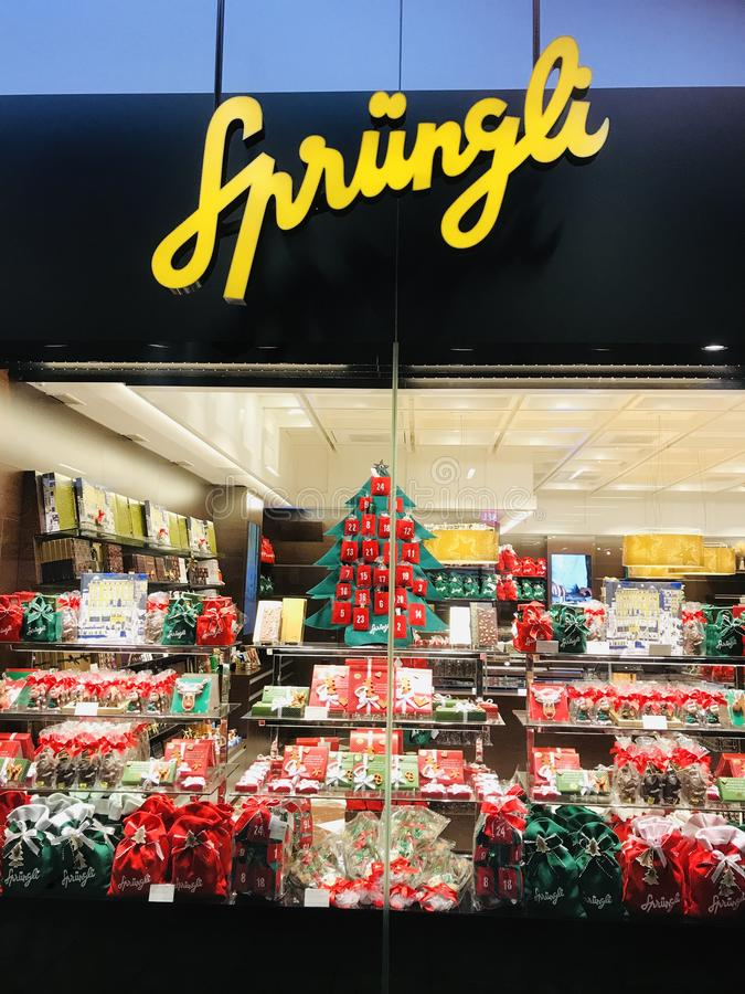 """Décoration d'Ève pour Noël """"à Zurich photo libre de droits"""