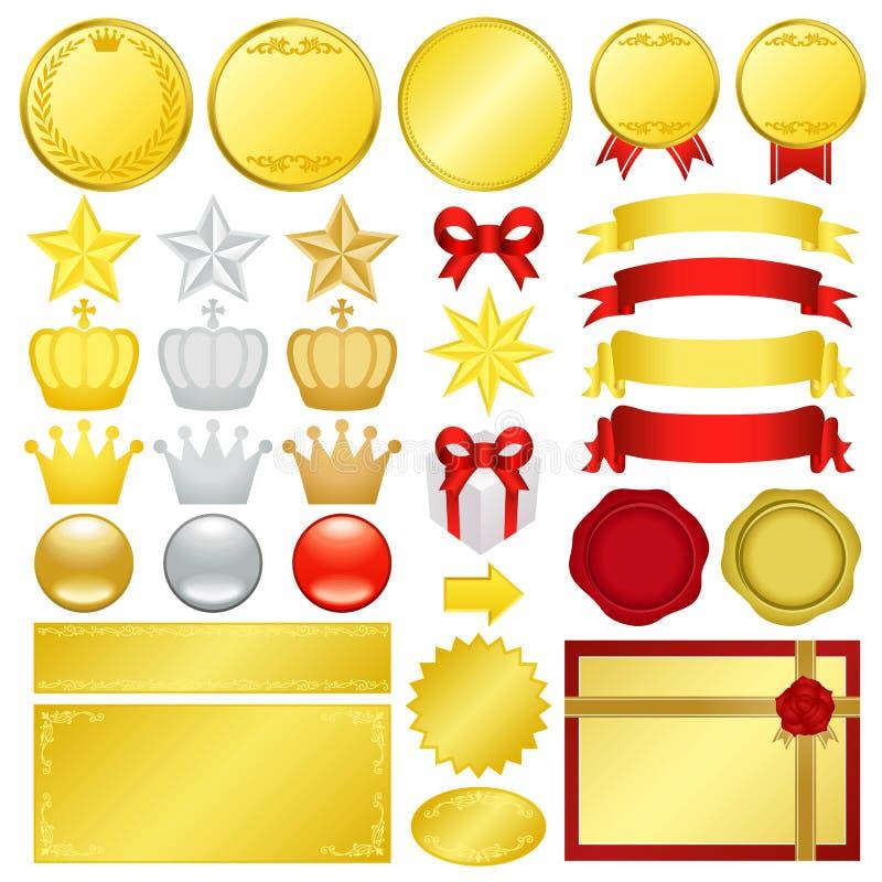 Décoration d'or illustration libre de droits