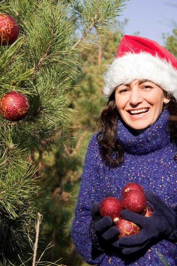 Décoration D Arbre De Noël Photos libres de droits