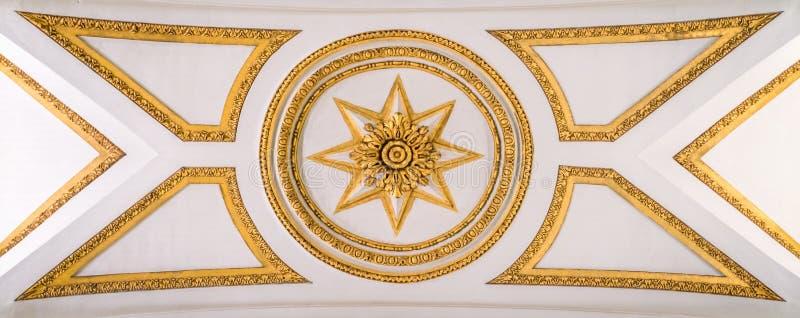 Décoration dans le plafond de la basilique de Santa Maria Maggiore à Rome, Italie photographie stock