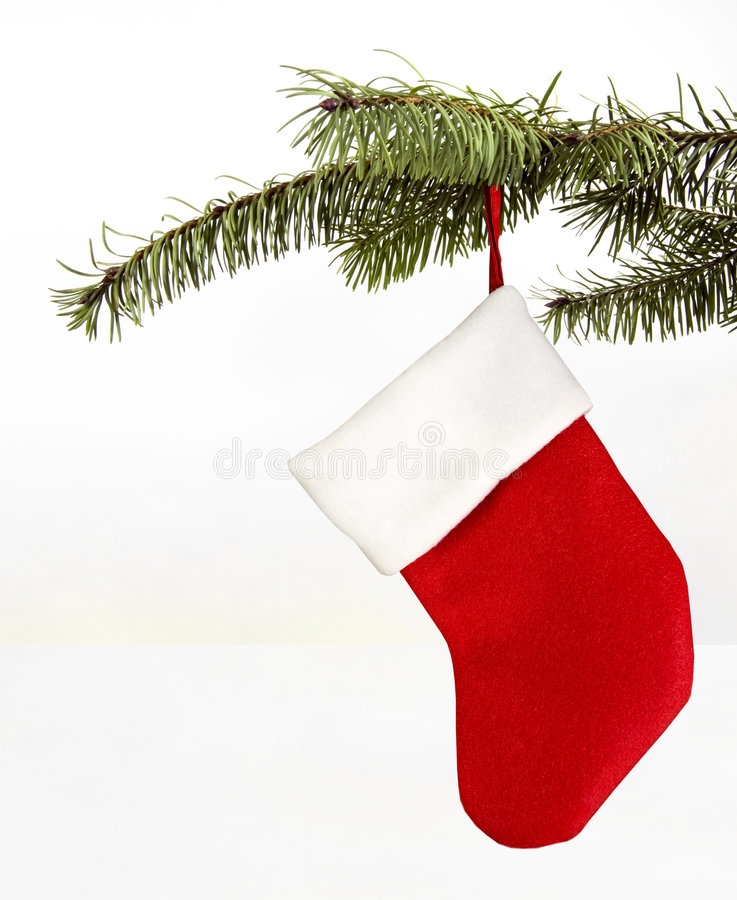 Décoration de bas de Noël photos stock