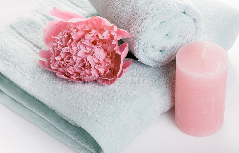 Décoration de bien-être, concept de station thermale dans le jour du ` s de Valentine photographie stock libre de droits