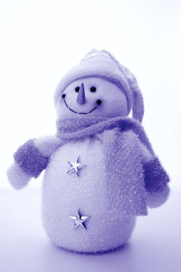 Décoration de bonhomme de neige de peluche photo stock