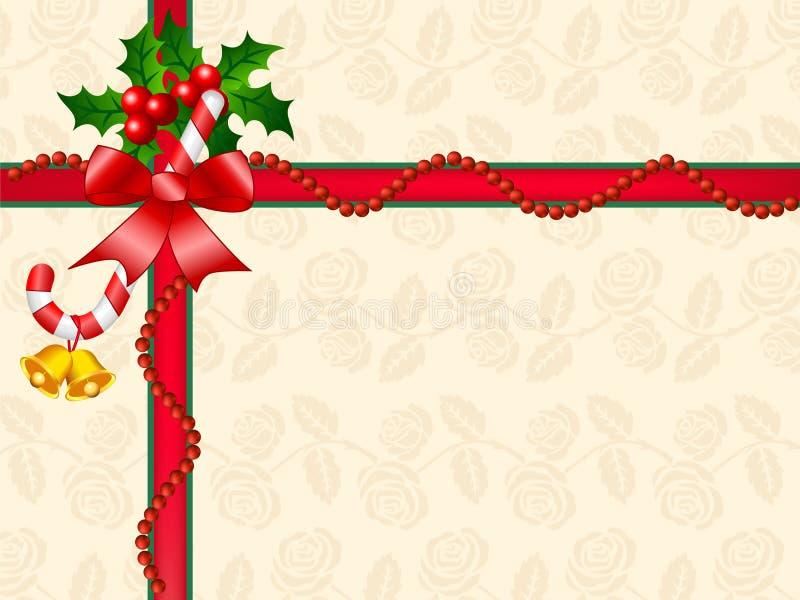 Décoration de cadre de cadeau de Noël illustration libre de droits